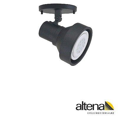 Spot Style com canopla Preto Fosco - Altena Iluminação