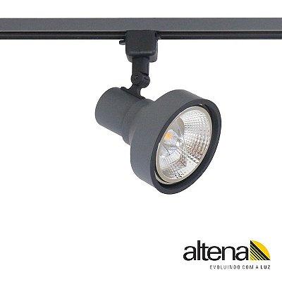 Spot Style com Plug Altrac para Trilho Eletrificado Grafite Fosco - Altena Iluminação
