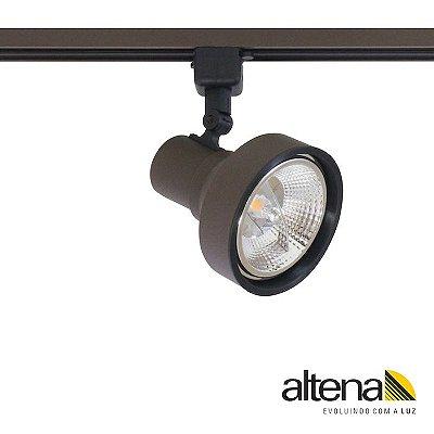 Spot Style com Plug Altrac para Trilho Eletrificado Marrom Café - Altena Iluminação