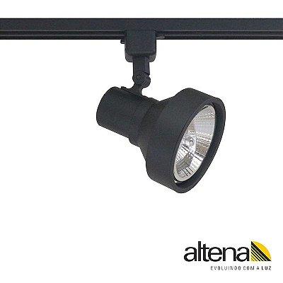 Spot Style com Plug Altrac para Trilho Eletrificado Preto Fosco - Altena Iluminação