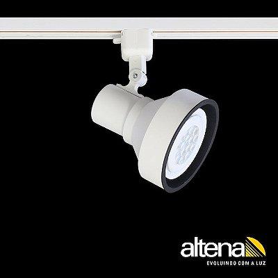 Spot Style com Plug Altrac para Trilho Eletrificado Branco Fosco - Altena Iluminação