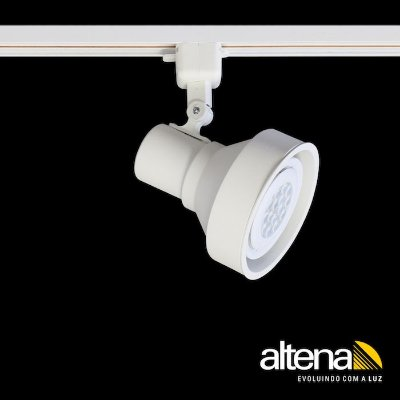 Spot Style com Plug Altrac para Trilho Eletrificado Branco Mono - Altena Iluminação