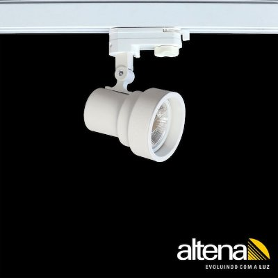 Spot Style com Plug Altrac PRO para Trilho Eletrificado de três circuitos Branco Mono - Altena Iluminação