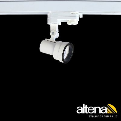 Spot Style com Plug Altrac PRO para Trilho Eletrificado de três circuitos Branco Fosco - Altena Iluminação