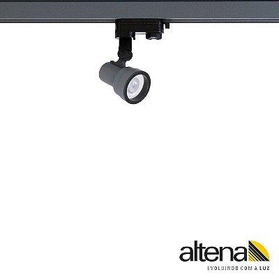Spot Style com Plug Altrac PRO para Trilho Eletrificado de três circuitos Grafite Fosco - Altena Iluminação