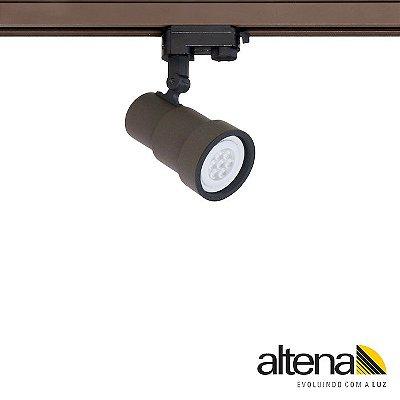 Spot Style com Plug Altrac PRO para Trilho Eletrificado de três circuitos Marrom Café - Altena Iluminação
