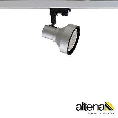 Spot Style com Plug Altrac PRO para Trilho Eletrificado de três circuitos Platinado - Altena Iluminação