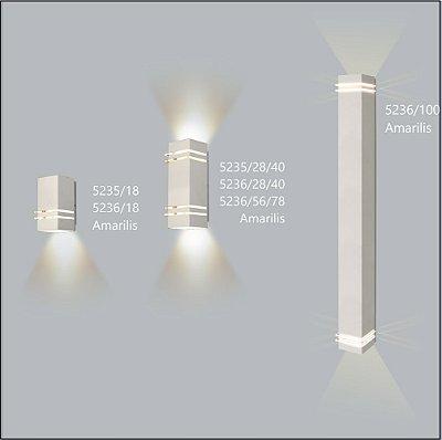 Arandela Quadrada Amarilis  28 cm - Usina Design 5237-28