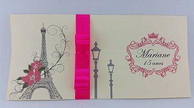 Convite 15 anos Tema Paris