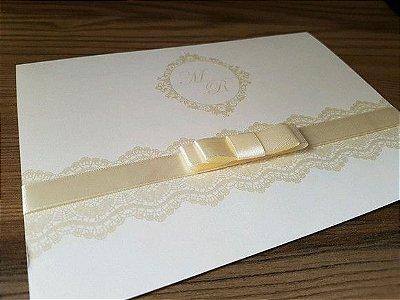 Convite perolado classico