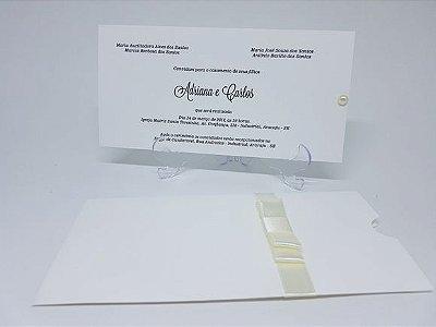 Convite para debutante envelope luva