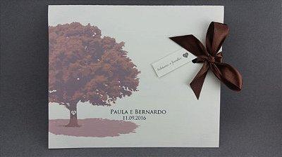 Convite de casamento Clássico árvore