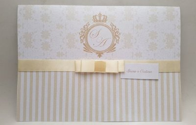 Convite de casamento palha clássico