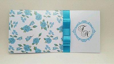 Convite de casamento Tiffany floral