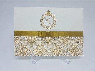 Convite debutante dourado barato