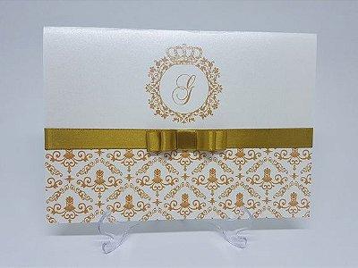 Convite dourado debutante