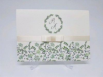 Convite para casamento floral