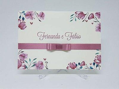 Convite Rosê floral