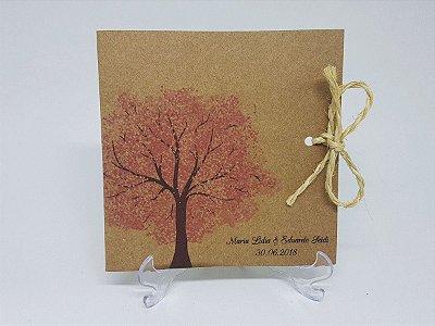Convite cerejeira rustico