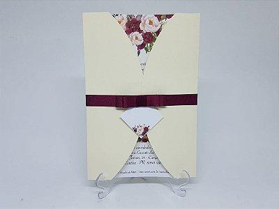 Convite marsala floral