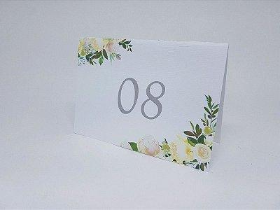 Reservado de mesa floral