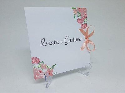 Convite casamento flores