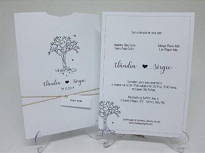 Convite casamento árvore