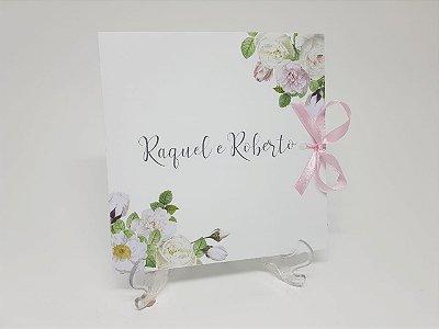 Convite floral moderno casamento