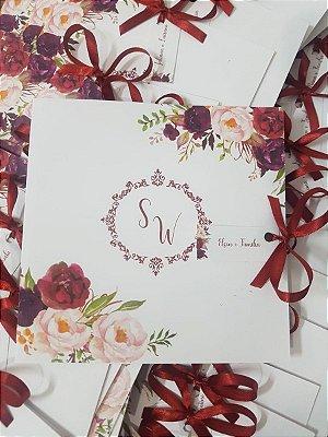 Convite Marsala para casamento