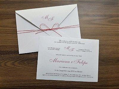 Convite casamento Classico Rosê