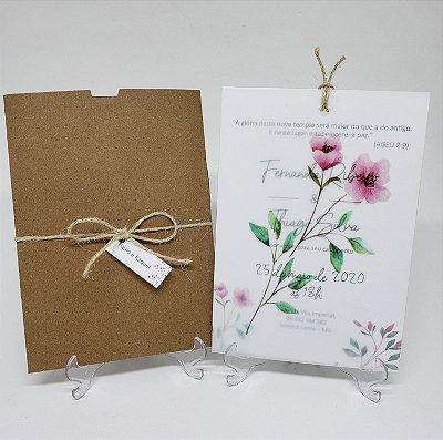 Convite rustico flores do campo vegetal