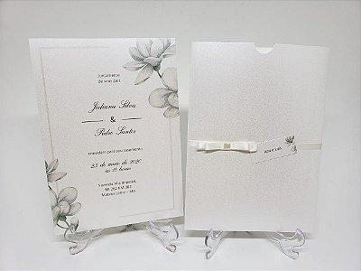 Convite de casamento classico minimalista