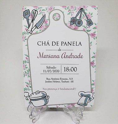 Convite chá de cozinha chá de panela barato