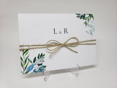 Convite casamento rustico simples com sisal