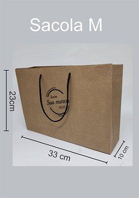 Sacola personalizada de papel tamanho M - Kit com 250