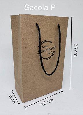 Sacola personalizada tamanho P - Kit com 1000