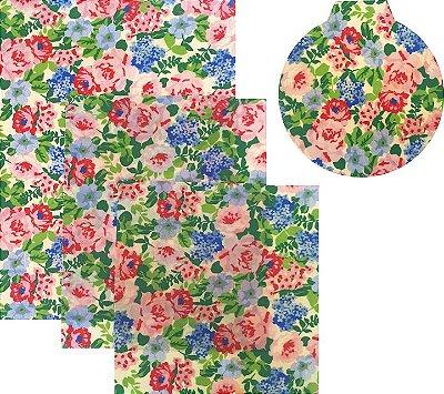 Pano de Mel Floral Kit com 4