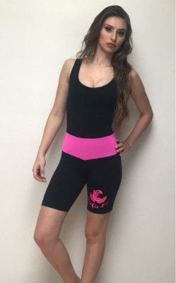 Macacão Short Rosa Suplex Power - Lissfit