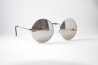 Óculos de Sol Feminino Espelhado Redondo - Moda Novembro 2017