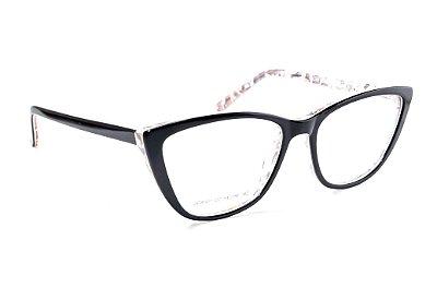 Armação para óculos de grau feminino - modelo gatinho preto - óculos diferente acetato