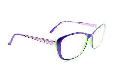 Armação para óculos de grau feminino - roxo e verde - óculos diferente acetato - lindo