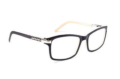 Armação para óculos de grau feminino - quadradinha - preto fosco