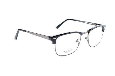 Armação para óculos de grau feminino - Club Master - Preto- Haste em metal