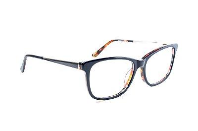 Armação para óculos de grau feminino acetato preto
