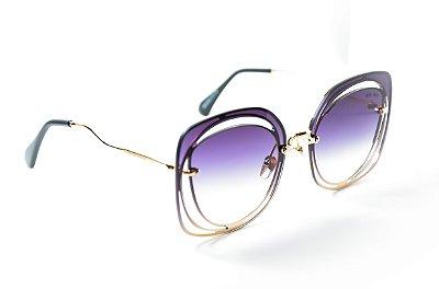 Óculos de Sol Feminino Redondo diferente miu miu super fashion