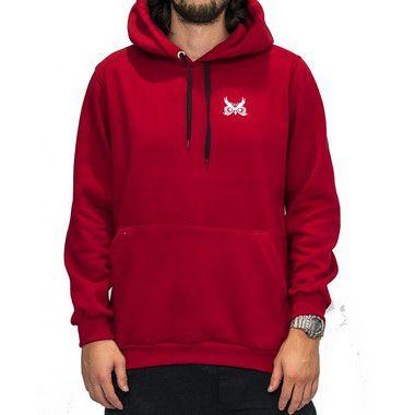Blusa de Moletom Vermelho - Logo Básico