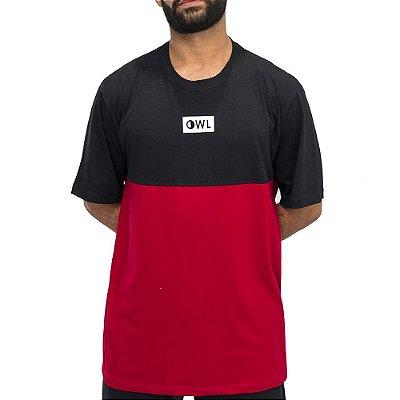 Camiseta Dublê Preta e Vermelha