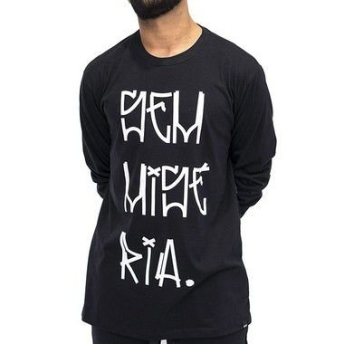 Camiseta M. Longa Preto - Sem Miséria