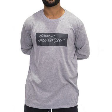 Camiseta M. Longa Cinza Mescla - S. Miséria 2.0