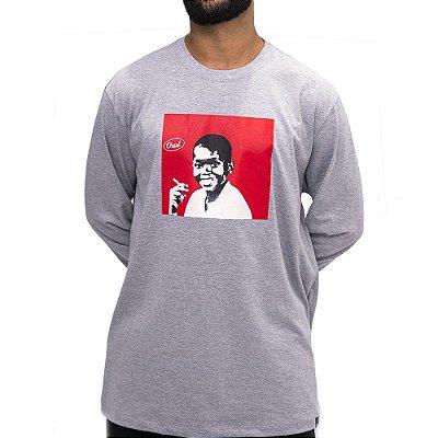 Camiseta M. Longa  Cinza Mescla - Choco